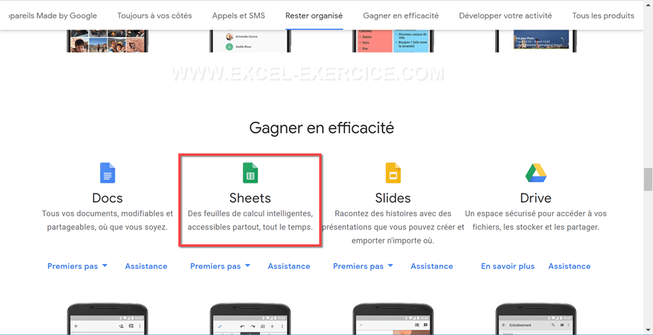 Application Google Sheets