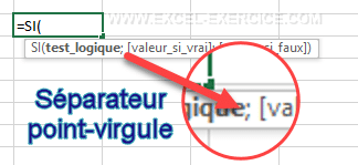 séparateur de formule point-virgule