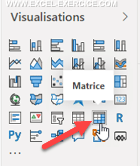 Power BI Visuel Matrice